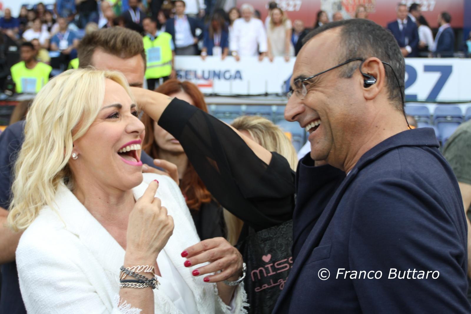 Partita del Cuore 2018 - Antonella Clerici e Carlo Conti
